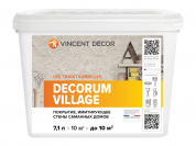 VINCENT DECOR DECORUM VILLAGE / Винсент Декорум Виладж эффект глины мазанки 10 кг