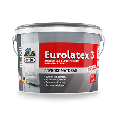 Dufa Retail EUROLATEX 3/Дюфа Ритейл Евролатекс 3 Водно-дисперсионная краска